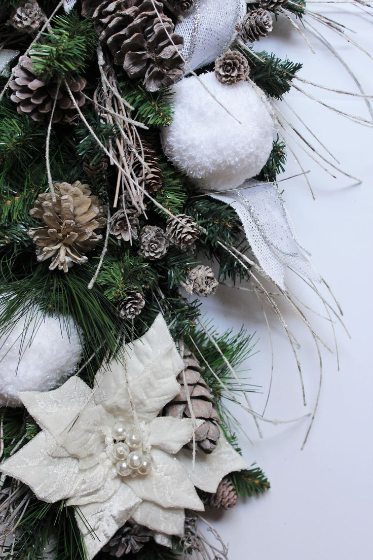 White Christmas Decorations Rustic Christmas Decor Front