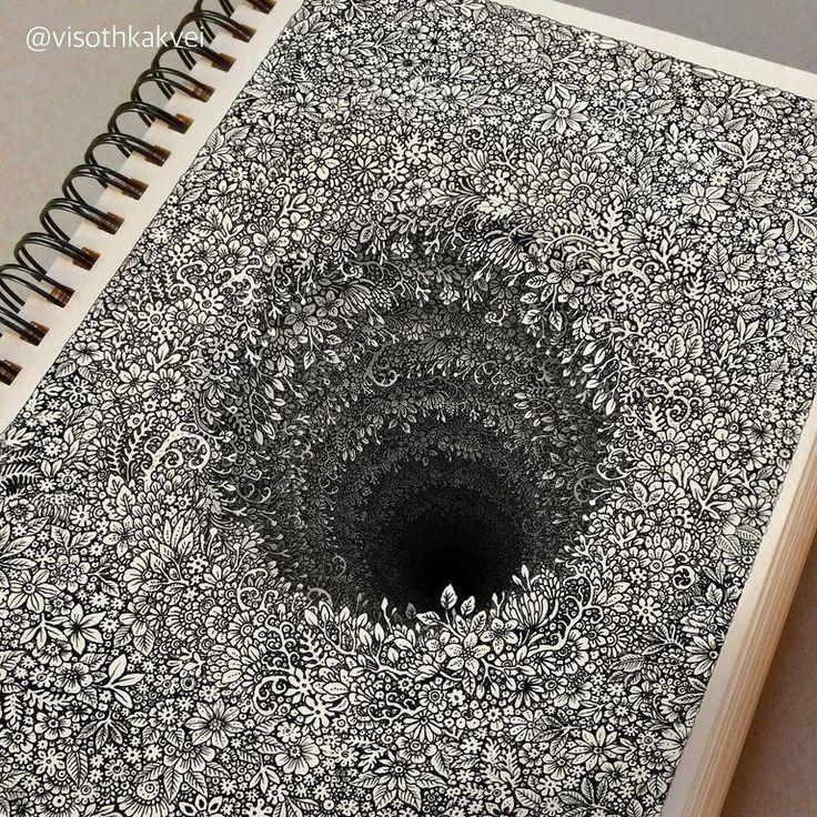 Black hole drawing by visothkakvei drawing optical