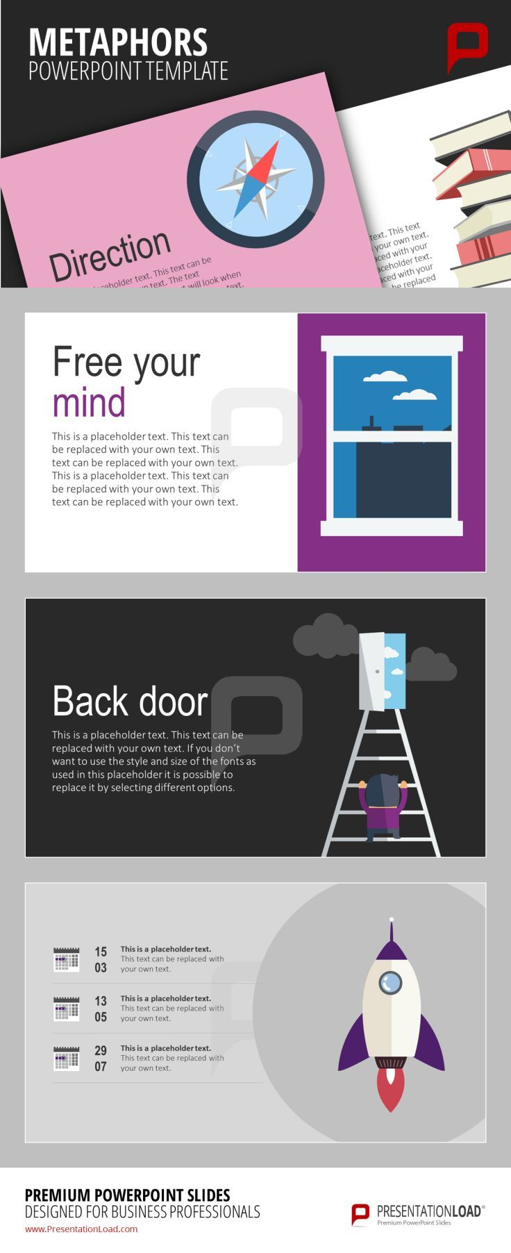 144 best flat design powerpoint templates images on pinterest flat design metaphor templates to inspire progress for the direction of your company http toneelgroepblik Gallery
