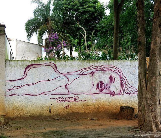 Sleeping Beauty by @grazie_ #globalstreetart #brazil #linework…