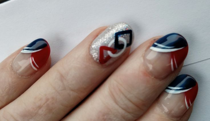 FIRST Robotics nails: Red, White and Blue. FRC, FTC, FLL, FLL Jr