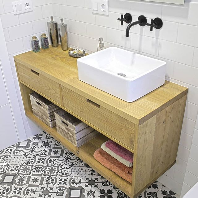At Last I Ve Finished Making The Bathroom Vanity You Ll Find The