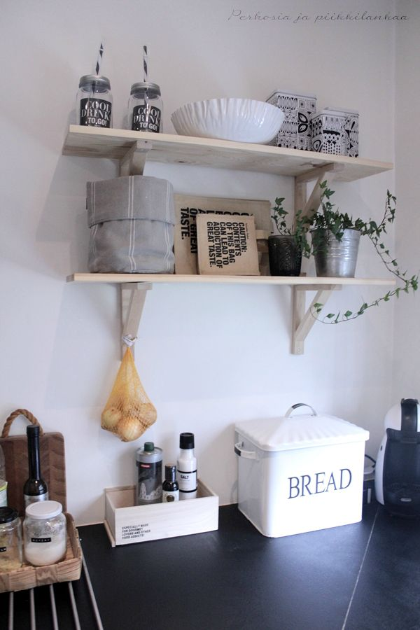 Shelves on the wall