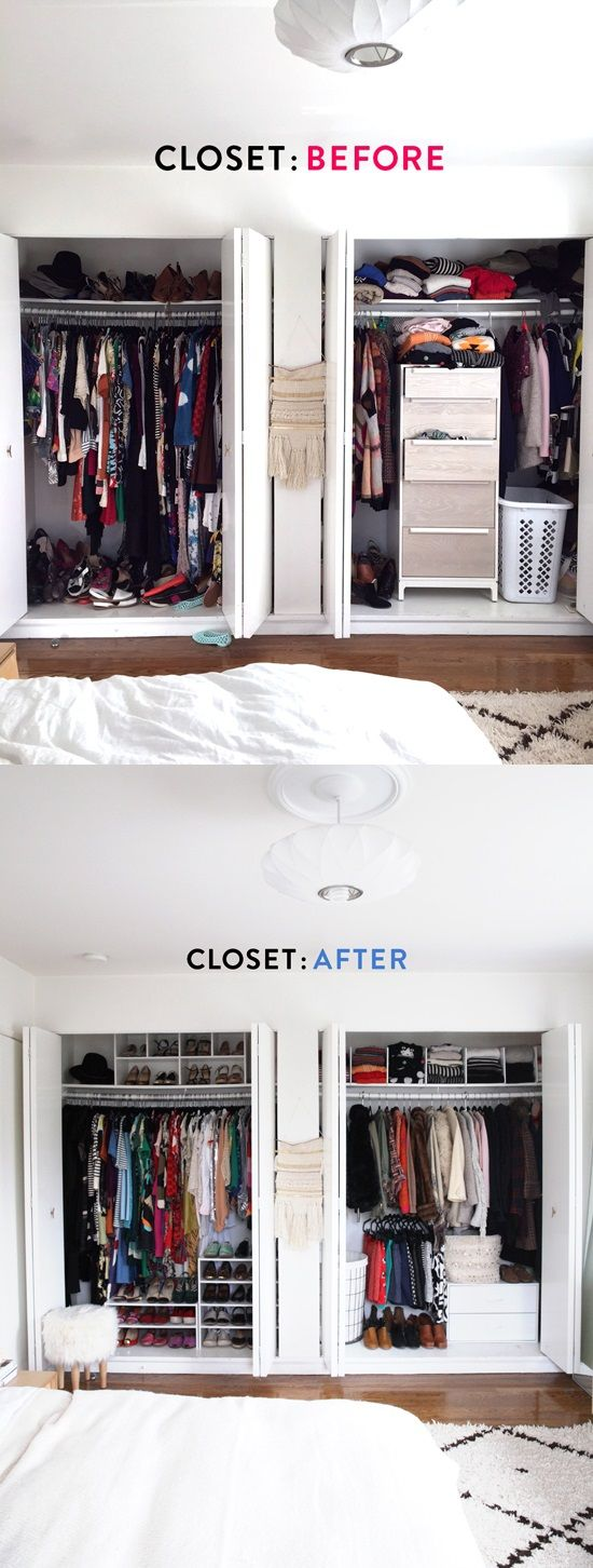 @designlovefest teamed up with Target to give her closet a much need makeover. Check out the tips and tricks she learned to utilize and organize her closet space! http://www.designlovefest.com/2015/01/closet-makeover/