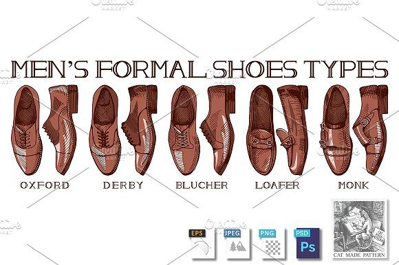 Ultimate guide for men's suit shoes by CatMadePattern on @creativemarket
