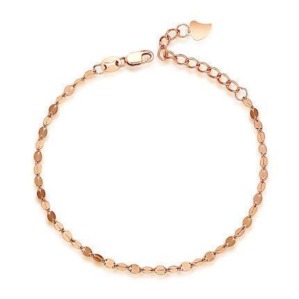Pulsera de mujer chapado en oro rosa accesorios moda plata fina - €18.39 : sarenxi.com, joyería de moda