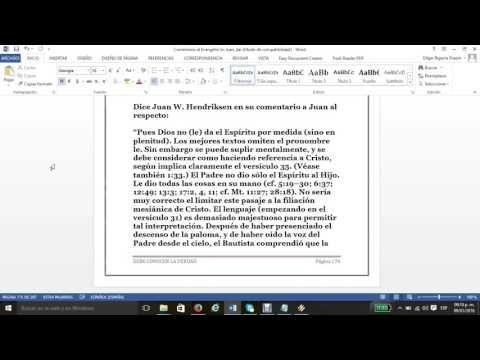 El Evangelio San Juan 3 vs34 al 4vs3
