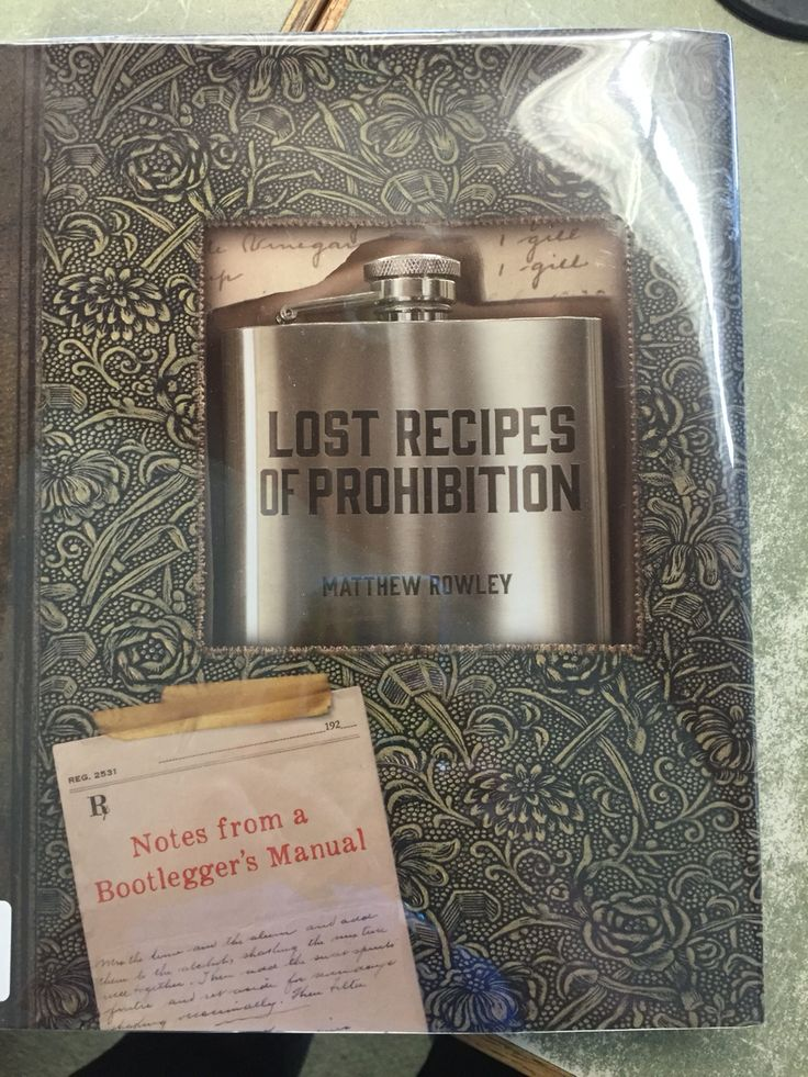 """Lost Recipes of Prohibition by Matthew Rowley From the cover: During Prohibition, publishing formulas for making and blending alcohol- bathtub gin, fake brandy, synthetic whiskey, and so forth- could get you thrown into jail. The """"lost recipes"""" in this book come from a journal found hidden in an antique book of poetry, and contained more than 300 entries on making liquors, cordials, absinthe, bitters, and wine."""