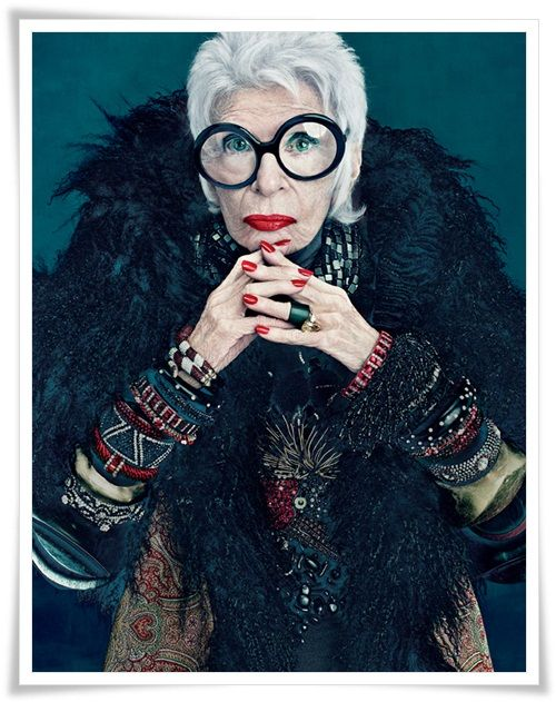 Iris Apfel for MAC. Because being a 90 year old interior design legend is the new 20.