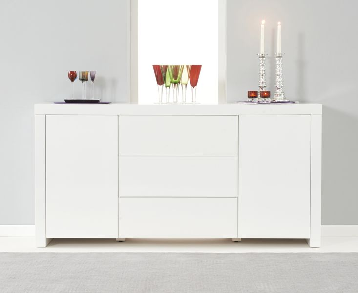 Hampstead 160cm White High Gloss Sideboard
