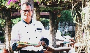 """Geert Vermeulen. """"Pastry was my first love as a kid growing up in belgium. So much so, I applied to become a pastry chef in college but was accepted in the kitchen instead,"""" explains chef Vermeulen, on how his career started. Grand Aston Bali Beach Resort 