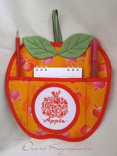 Яблочный эль: прикладная вышивка: