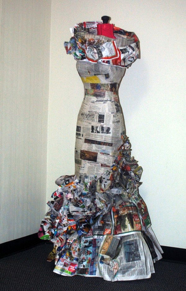 17 best images about creative dresses on pinterest for Creative use of waste newspaper