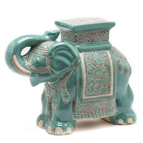 Great Ceramic Elephant Garden Stool