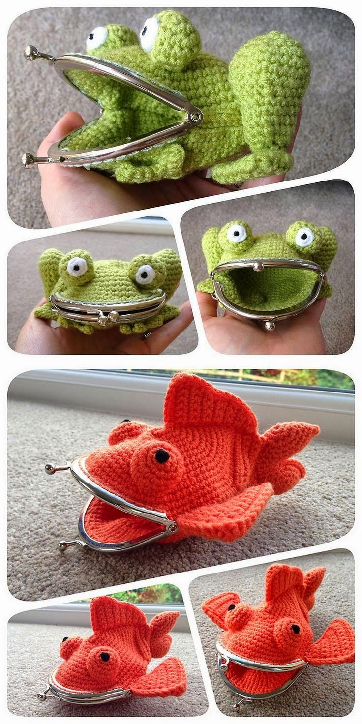 Adorable coin purses would be great for kids! ~ These would also make cute soap saver bags!