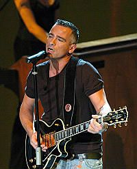 Eros Ramazzotti - critically and commercially successful Roman pop rocker. Performing initially in Italian, he became a major star throughout Europe in the 1980s. In the early '90s, he also began singing in Spanish, which popularized him throughout Latin America.