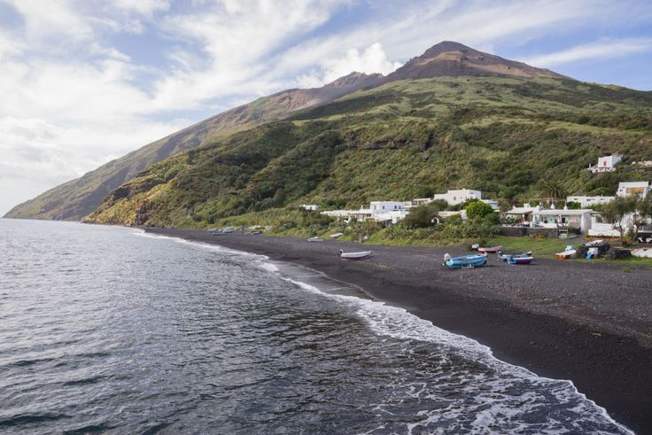 STROMBOLI, ITALY. Nearby volcanoes are usually the reason for black beaches.Click through for more pictures of black sand beaches.
