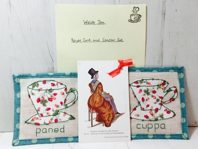 Coaster and Recipe Set Floral £7.00