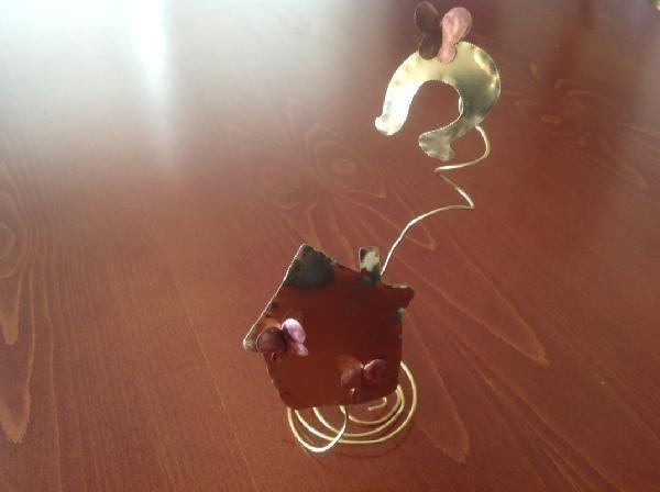 Μεταλλικό για τις γιορτές γούρι 2014 με σπιτάκι και πέταλο
