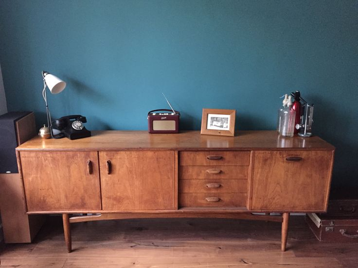 Farrow Amp Ball Vardo Paint Vintage Ercol Sideboard Our Big Build Living Room Kitchen Blue