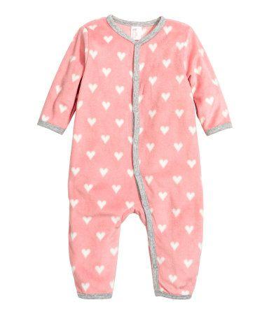 Fleecepyjamas | Rosa/Hjärtan | Barn | H&M FI