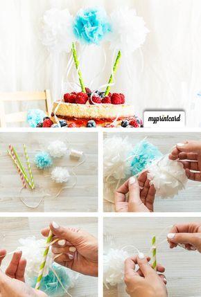 Ganz einfach selbst gemacht ist diese tolle Girlande aus Pompons als Dekoration für die Hochzeitstorte. Cake Topper für den Naked Cake sind absolut im Trend  #hochzeitstorte #nakedcake #caketopper #dekoration #torte #kuchen #kuchendeko #hochzeit #dekoration #basteltipp #diy #heiraten #anleitung #basteln #tutorial #selbstgemacht #vintage #selbermachen #doityourself #party #wedding #braut #bräutigam #feiern #hochzeitsfeier #hochzeitskarten #hochzeitseinladung #danksagungskarte #einladungskarte