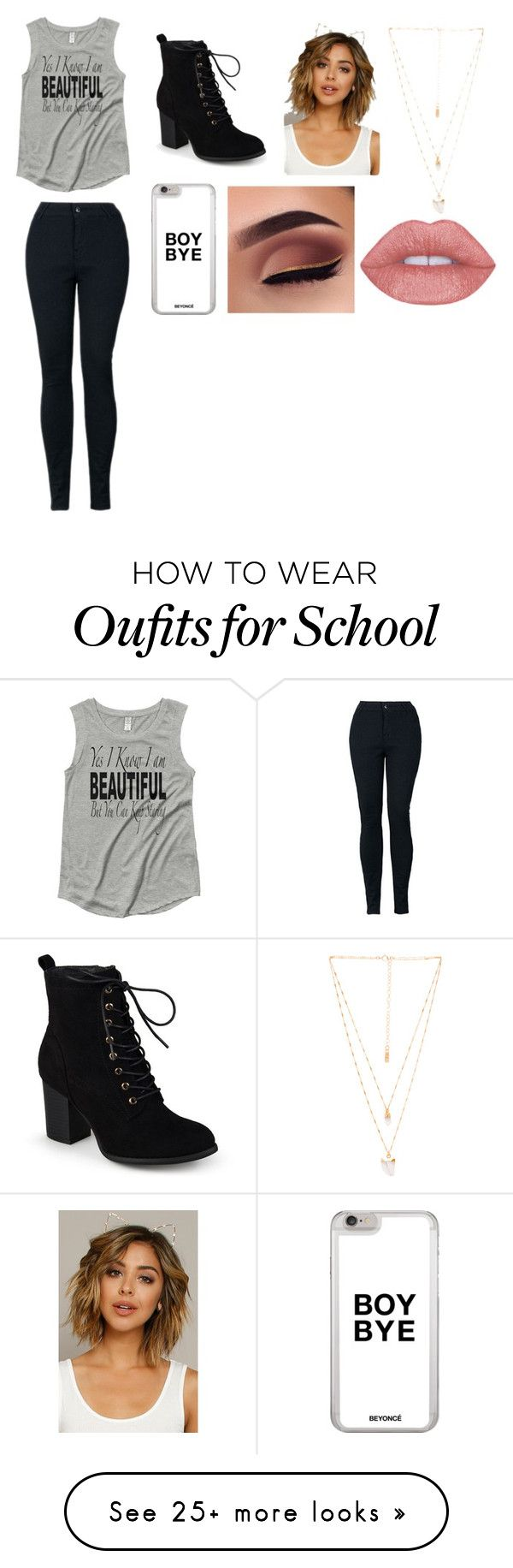 """""""School"""" by laela-pelphrey on Polyvore featuring Journee Collection and Natalie B"""