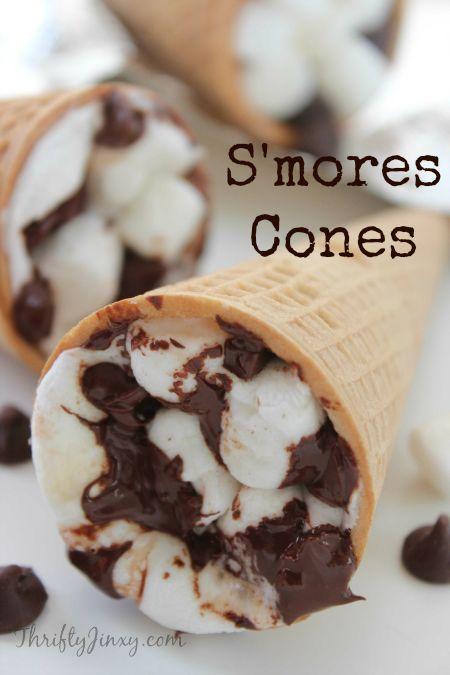 S'mores Cones Recipe