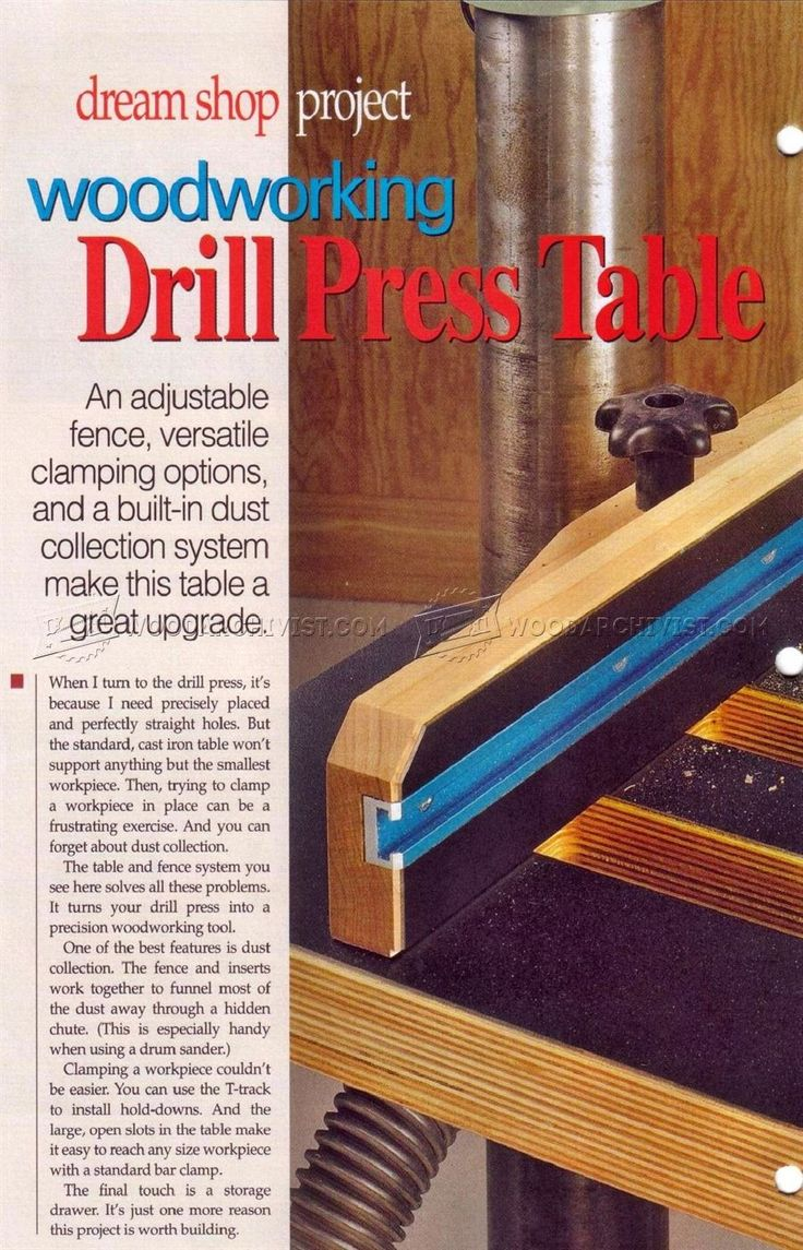 Drill Press Table Plans - Drill Press