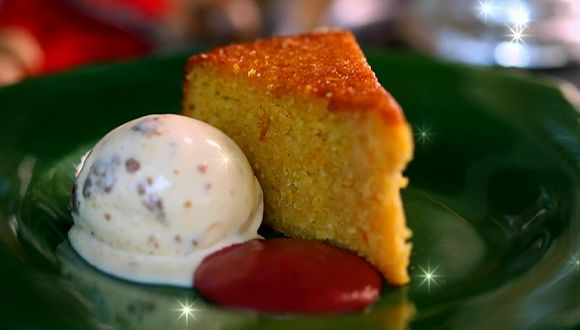 Tom Kerridge spiced orange cake recipe for Christmas on Saturday Kitchen