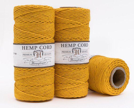 Gold Hemp Cord 1mm 205 Feet Craft Cord Gold Twine Macrame Cord Beads For Sale Macrame Cord Twine