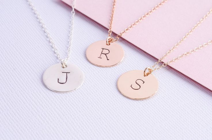 Typewriter Initial Necklace // Personalised Initial Necklace // Sterling Silver Initial Necklace // Gold Filled or Rose Gold Filled Necklace