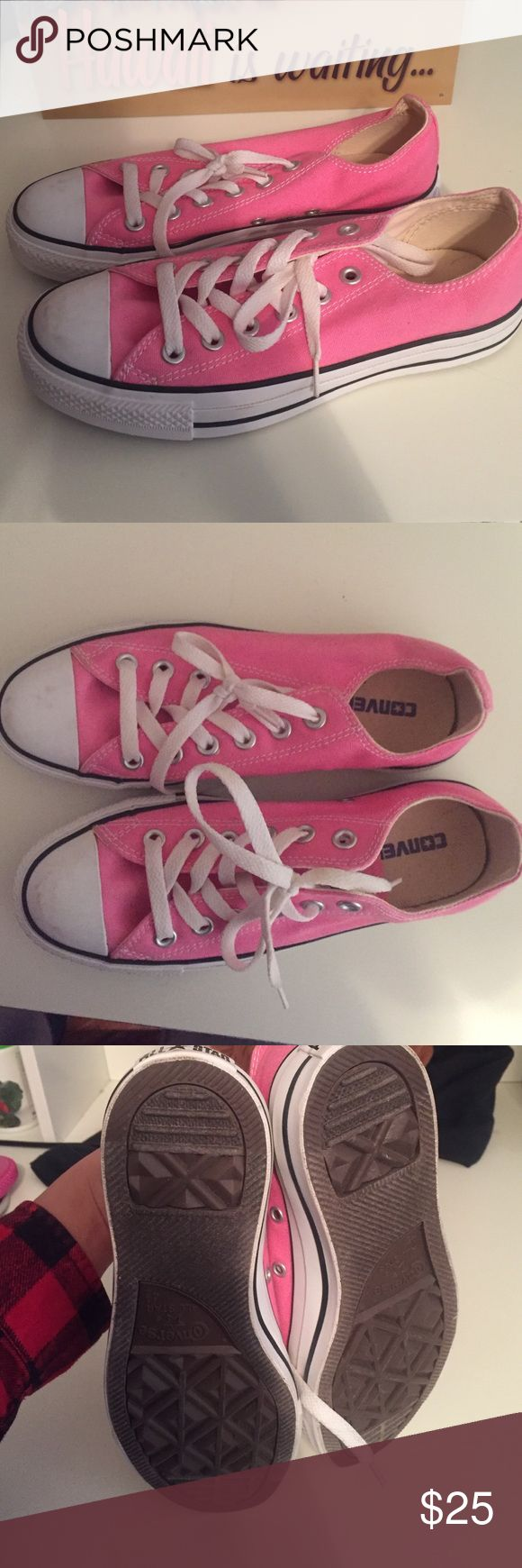 Selling this Low-Top Baby Pink Converse! Great condition! on Poshmark! My username is: kins6. #shopmycloset #poshmark #fashion #shopping #style #forsale #Converse #Shoes