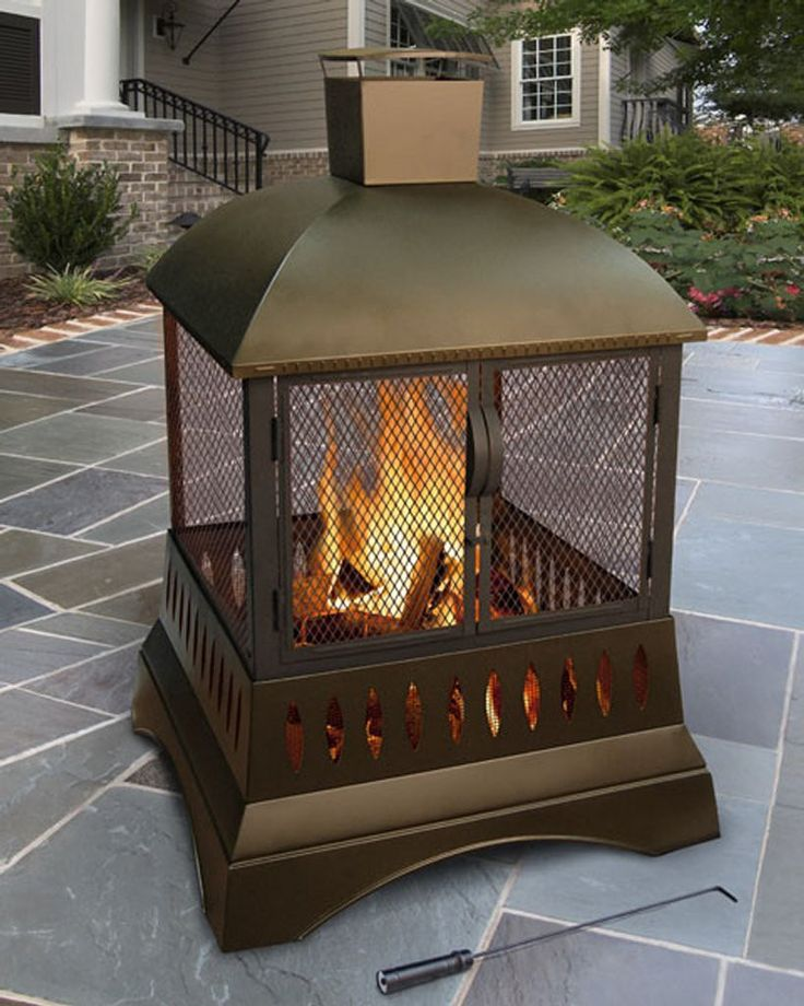 """50"""" Outdoor Wood Burning Fireplace With Chimney"""