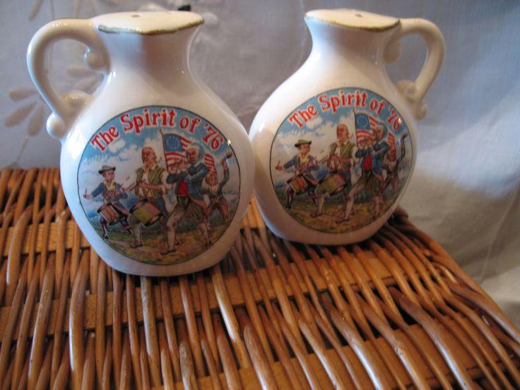 Vintage salière poivrière souvenir du bicentenaire de la révolution américaine de 1776 ( par nanco ) de la boutique NorDass sur Etsy