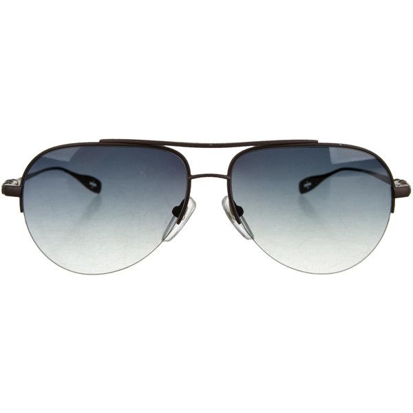 Pre-owned Chrome Hearts Stains Aviator Sunglasses ($395) ❤ liked on Polyvore featuring men's fashion, men's accessories, men's eyewear, men's sunglasses, brown, mens eyewear, mens brown sunglasses, mens sunglasses and mens aviator sunglasses