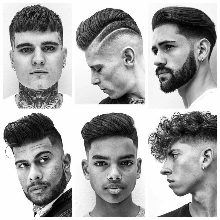 A collection of haircuts done in a minimal B&W style of photography.