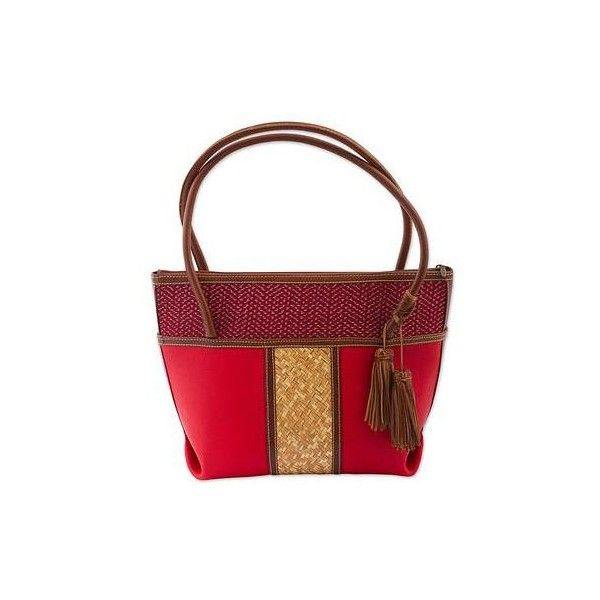 NOVICA Handcrafted Leather and Palm Shoulder Bag in Crimson ($115) ❤ liked on Polyvore featuring bags, handbags, shoulder bags, accessories, clothing & accessories, red, man bag, man shoulder bag, red leather purse and man leather shoulder bag