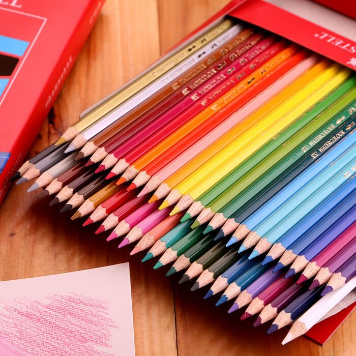 48 Colors Classic Faber Castell Coloured Pencils Drawing Set Brush