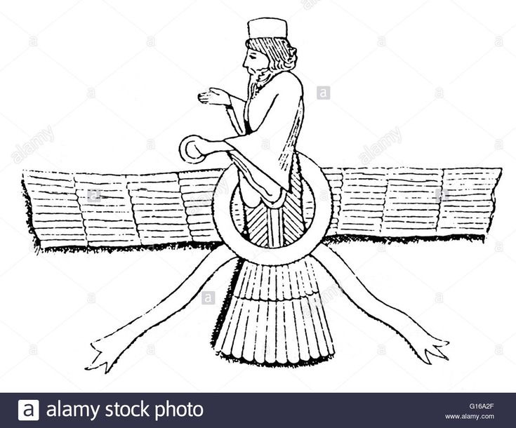 Ahura Mazda is the Avestan name for a divinity of the Old Iranian religion who was proclaimed the uncreated God by Zoroaster, the founder of Zoroastrianism. Ahura Mazda is described as the highest deity of worship in Zoroastrianism, along with being the f Stock Photo
