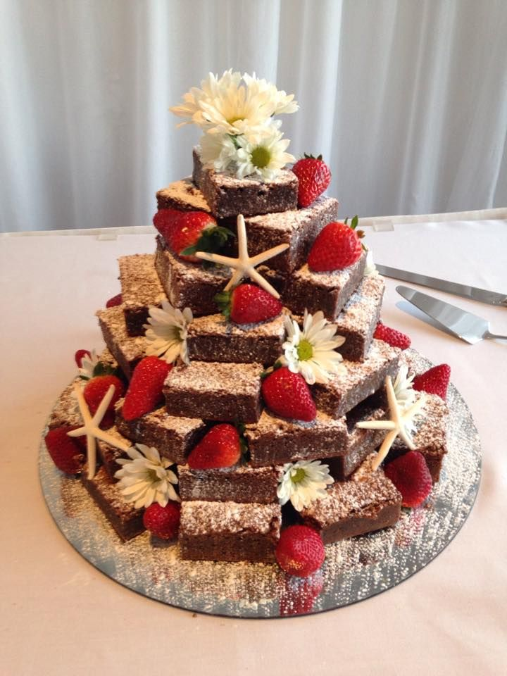 Brownie Tower - Wedding Cake                                                                                                                                                                                 More