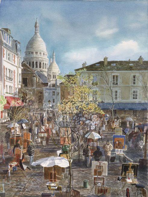 Площадь Тертр, Монмартр Париж (площадь художников)