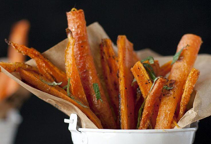 Honey Baked Carrot Fries