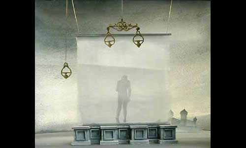 Athol Fugard's play The Coat starring Marcel Marceau, decors by Jacques Noël, 1951 - Theatre