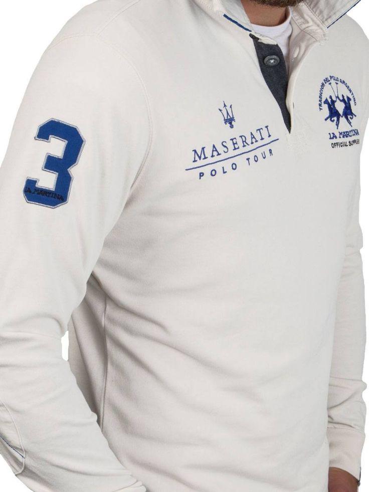 La Martina ® Sweatshirt Off-White, Maserati