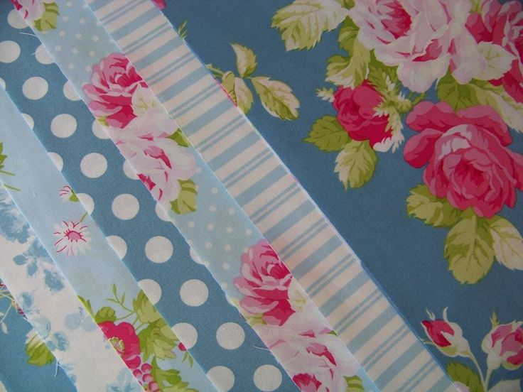 7 Fat Quarters Bundle Tanya Whelan SADIE'S DANCE CARD in Blue ~ 1.75 yards total…