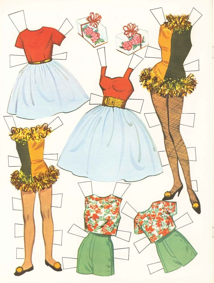 1964 Barbie And Skipper Paper Doll Clothes My Childhood