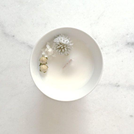Petite Bougie Fleurie au Gingembre  Cire de Soja  par OrganicCocoon