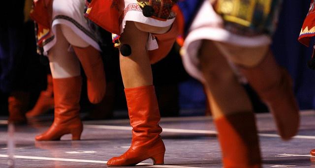 Ukrainian dancing boots