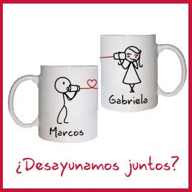 Set de 2 tazas para enamorados Especial San valentin